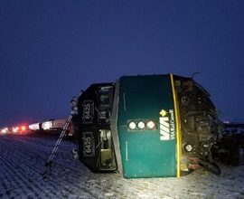 Photo of Passenger train derails in Manitoba with 12 on board