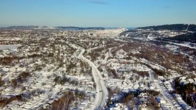 Photo of WATCH: Dramatic drone footage of St. John's post blizzard
