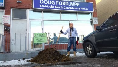 Photo of Two charged for dung-dumping incident at Ford's Etobicoke office