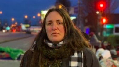 Photo of Lead Wet'suwet'en protestor from America