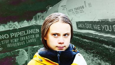 Photo of Greta Thunberg voices her support for anti-pipeline protestors