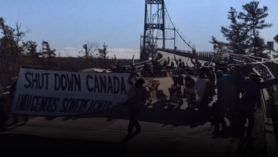 Photo of Protesters blockade Thousand Island Bridge blocking access to the US border – True North