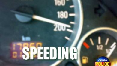 Photo of 99 km/hr over the posted speed limit – Canada Police Report