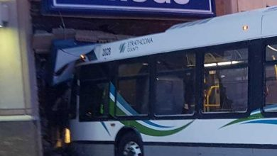 Photo of Transit bus leaves roadway, strikes London Drugs building causing significant damage – Canada Police Report