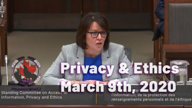 Photo of Privacy and Ethics – March 9th 2020