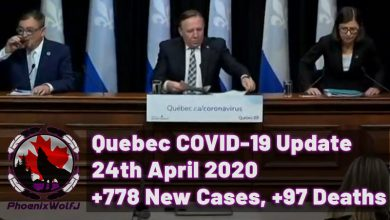 Photo of Quebec COVID-19 Update – April 24th, 2020, +778 Cases, +97 Deaths