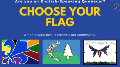 Photo of Which flag best represents the English speaking community in Quebec?