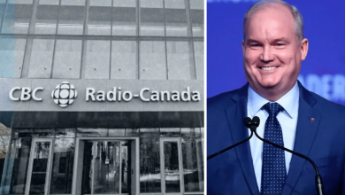 "Photo of CBC says Erin O'Toole's comments about defunding CBC were edited out ""for time"""