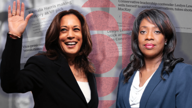 Photo of 500% more CBC headlines about Kamala Harris than Leslyn Lewis