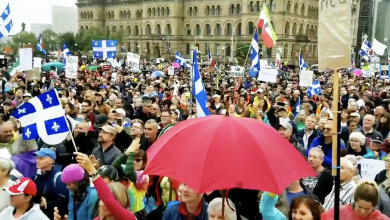 Photo of Hundreds flood before Parliament Hill for pro-freedom protest