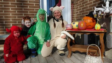Photo of Little monsters take precautions for a Halloween version of COVID