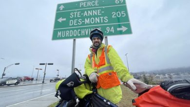 Photo of From Gaspé to Vancouver by bike, alone with the winter, to save lives