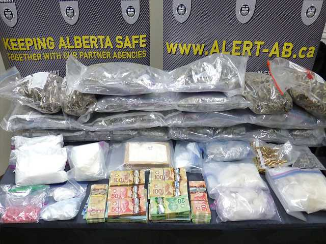 ALERT: Search of west Edmonton home yields large amount of drugs
