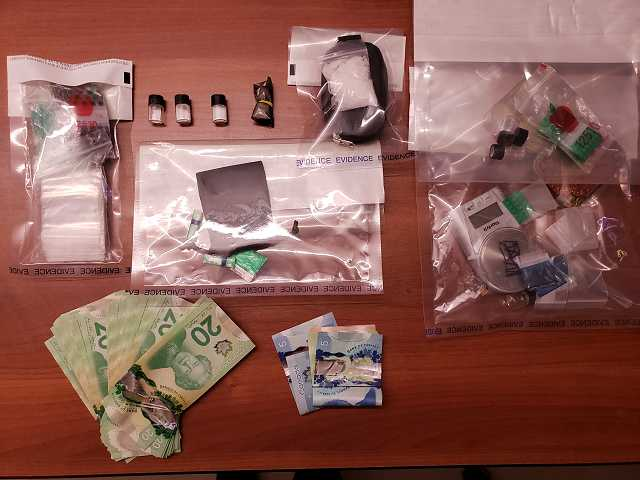 (Hinton RCMP) Police seized what is believed to be 3.3 grams of cocaine, 20.9 grams of methamphetamine, numerous firearms and knives, as well as an undisclosed amount of Canada currency.