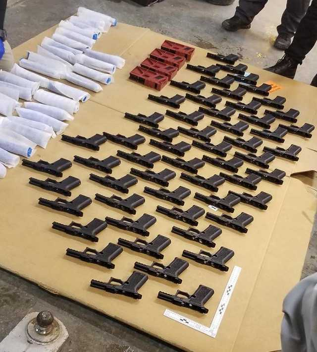 249 illegal firearms (disassembled) were seized by our officers.