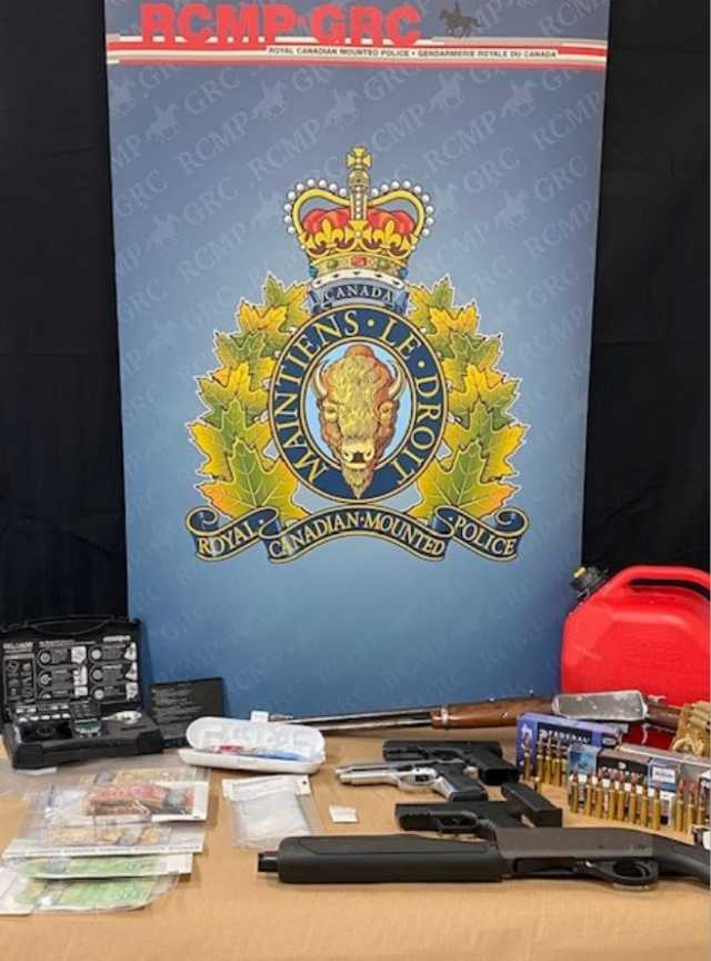 Grande Prairie RCMP search warrant leads to drug and firearms seizure