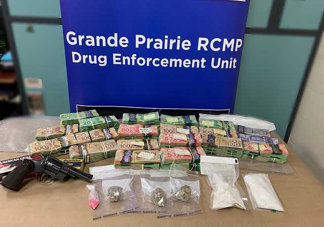 Grande Prairie RCMP Drug Unit investigation leads to seizure of drugs and $236, 385 in Canadian Currency