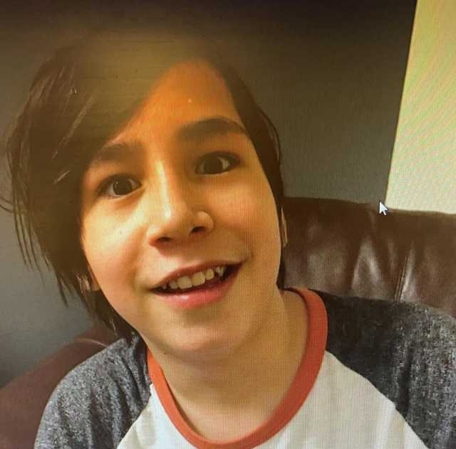 Lazarus Desjarlais (13 yrs) was last seen walking southbound on 24th Street by Yankee Valley Blvd in Airdrie, Alta at 9:30 a.m. on Apr. 1, 2021.